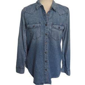 Gap 1969 Maternity Denim Shirt Jacket BNWOT XS